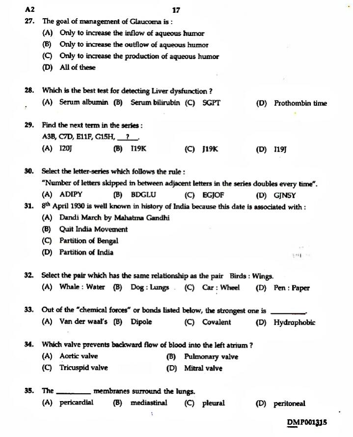 Nurse Quiz: Previous 5 Years Question Papers With Answers For Staff