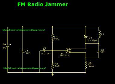 Jammer Circuit Diagram on