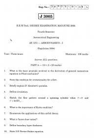Anna University Aeronautical Engineering 4th Semester Exam